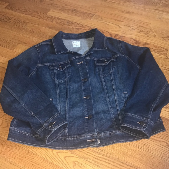 88e6efed5f2 Old Navy denim stretch jean jacket plus size 2X